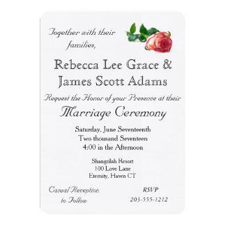 Single Rose Linen w/envelope - HAMbyWhiteGlove Card