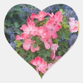 Single Roses Heart Sticker