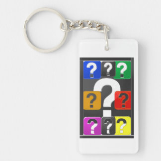 Single side Print Key Chain Acrylic QUESTION SYMBO