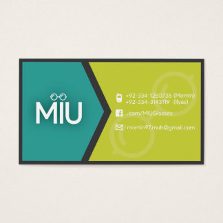 Single sided visiting card. business card