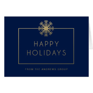Single Snowflake Busines Holiday Greeting Card