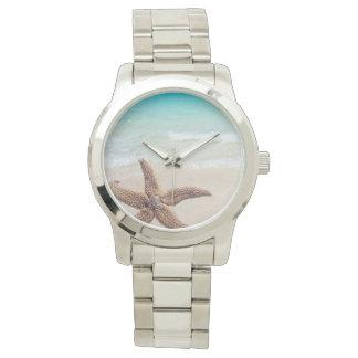 Single Starfish Beach Scene Wrist Watch