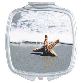 Single Starfish Washed Ashore Travel Mirrors