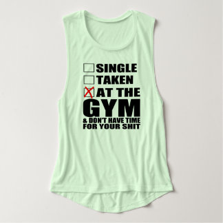 Single, Taken, At The Gym and Don't have time Singlet