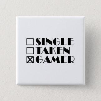 Single Taken or Gamer 15 Cm Square Badge