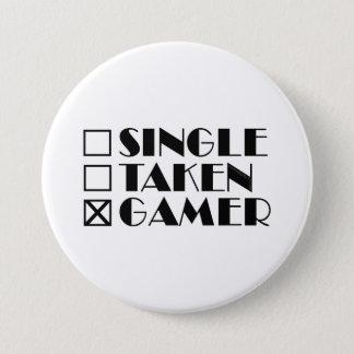 Single Taken or Gamer 7.5 Cm Round Badge