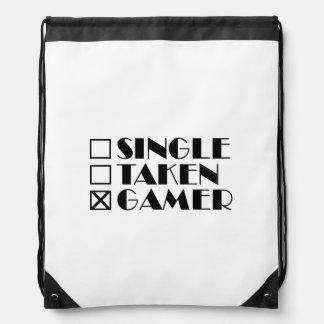 Single Taken or Gamer Drawstring Bag