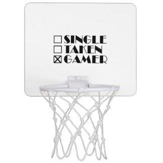 Single Taken or Gamer Mini Basketball Hoop