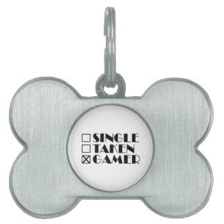 Single Taken or Gamer Pet ID Tag