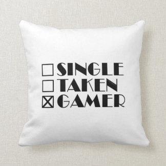 Single Taken or Gamer Throw Pillow