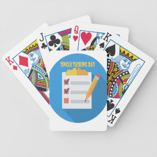 Single Tasking Day - Appreciation Day Bicycle Playing Cards