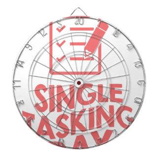 Single Tasking Day - Appreciation Day Dartboard With Darts