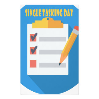 Single Tasking Day - Appreciation Day Personalized Stationery