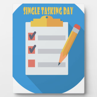 Single Tasking Day - Appreciation Day Plaque