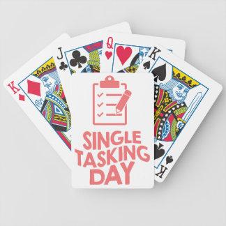 Single Tasking Day - Appreciation Day Poker Deck