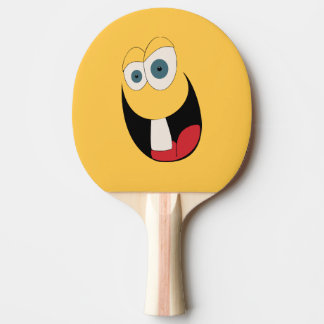 Single Tooth Funny Face Ping Pong Paddle