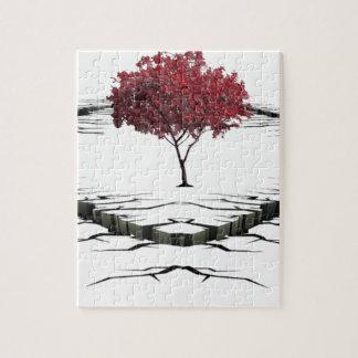 Single tree isolated from nature sad jigsaw puzzle