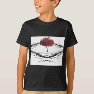 Single tree isolated from nature sad T-Shirt