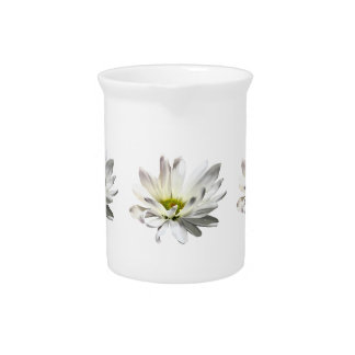 Single White Daisy Pitcher