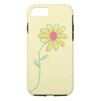 Single Yellow and Red Daisy Outlined in Green iPhone 8/7 Case