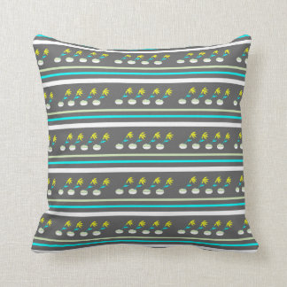 Single Yellow Floral Repeated Design Throw Cushion