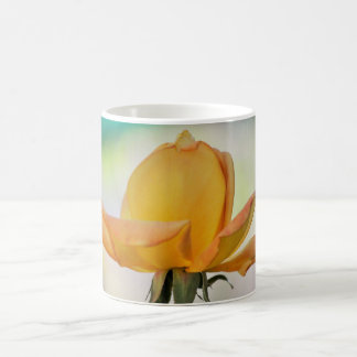 Single Yellow Rose Bud Coffee Cup