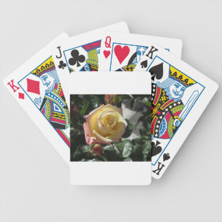 Single yellow rose flower in spring bicycle playing cards