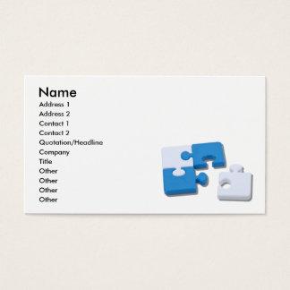 SingledPiecePuzzle101310, Name, Address 1, Addr... Business Card