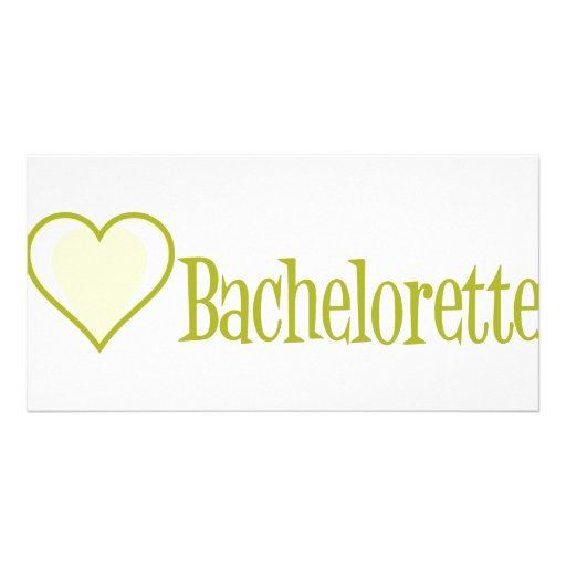 SingleHeart-Bachelorette-Ylw Photo Card Template