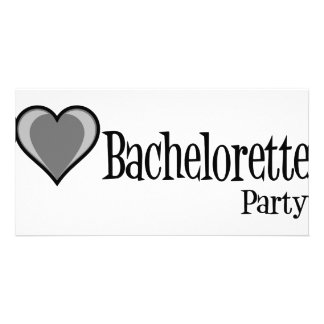 SingleHeart-BacheloretteParty-Blk Photo Card