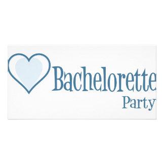 SingleHeart-BacheloretteParty-Blue Photo Greeting Card