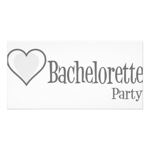 SingleHeart-BacheloretteParty-Grey Picture Card