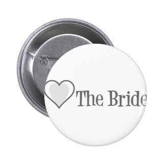 SingleHeart-Bride-Grey 6 Cm Round Badge
