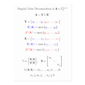 Singular value decomposition into subspaces postcard