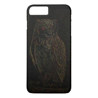 Sinister Dark Owl Glowing Eyes Black iPhone 7 Plus Case