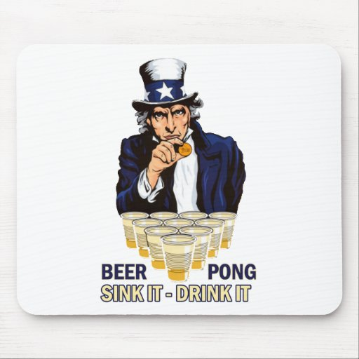 Sink it Drink it Abe Lincoln Mouse Pads