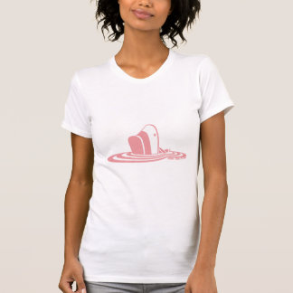 Sink the Pink ladies' white t-shirt