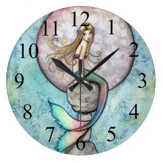 Sinking Moon Mermaid Wall Clock