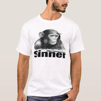 Sinner Chimp t-shirt - By Brett Keane