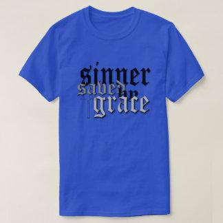 sinner saved by grace drk blu t T-Shirt
