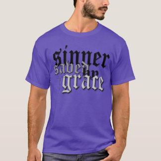 sinner saved by grace drk pur t T-Shirt