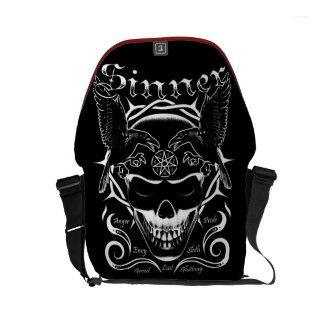 Sinner Skull Courier Bag