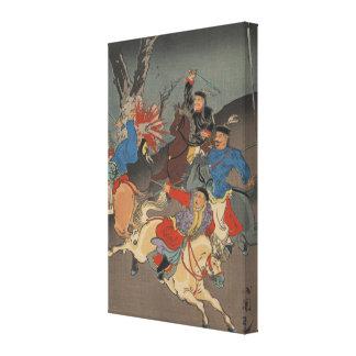 Sino Japanese War - Vintage Japanese Art Image Stretched Canvas Prints