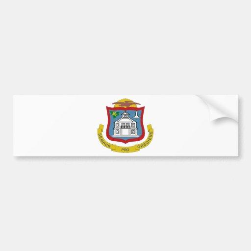 Sint Maarten Coat of Arms Bumper Sticker