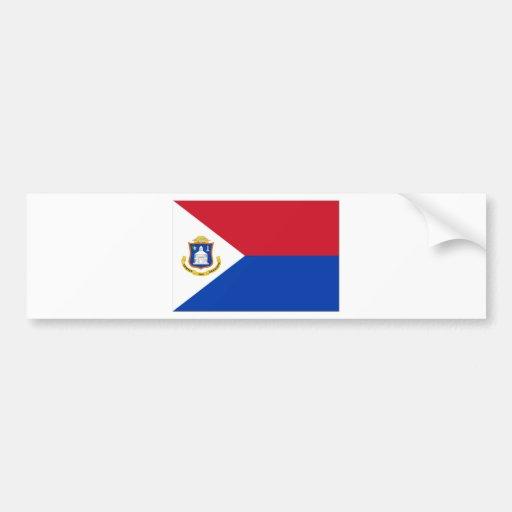 Sint Maarten Flag Bumper Sticker