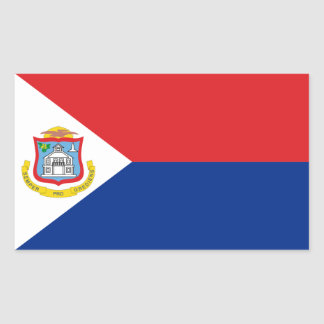 Sint Maarten, Saint Martin Flag, Dutch/Netherlands Rectangular Sticker