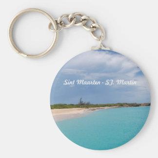 Sint Maarten - St. Martin Beach Scene Key Ring