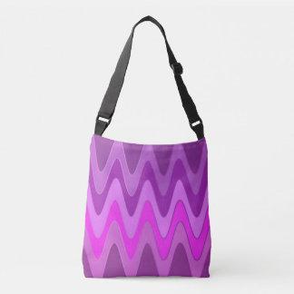 Sinus Waves pattern - pink magenta + your ideas Crossbody Bag