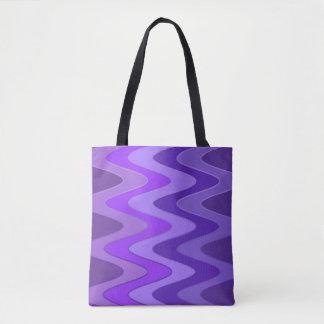 Sinus Waves pattern - purple violet + your ideas Tote Bag