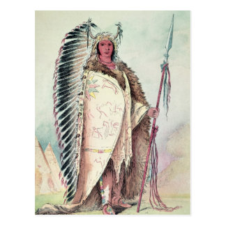 Sioux chief, 'The Black Rock' Postcard